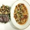 Linguine con Vongole e Calamaretti al Pomodoro