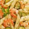 Penne con Gamberetti e Zucchine