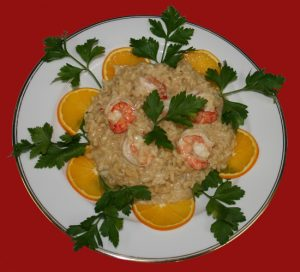 Risotto with Prawns